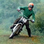 My father Artur Dovey on his faithful Tribsa  scrambler and the reason for my addiction to Pre-65 motorcycle sport